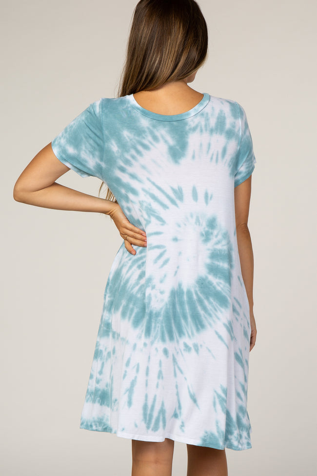 Mint Tie Dye Maternity Dress