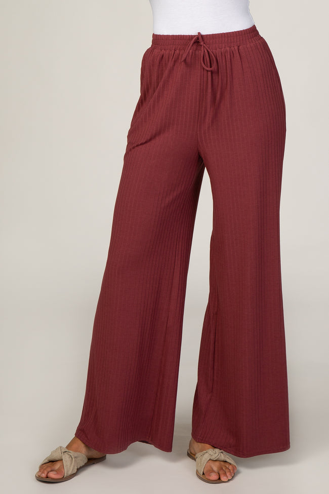 Rust Ribbed Pants