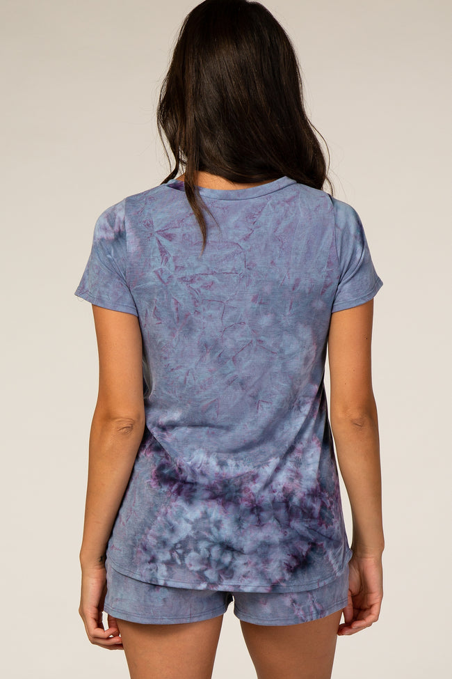 Waverleigh Blue Tie Dye Sleep Set