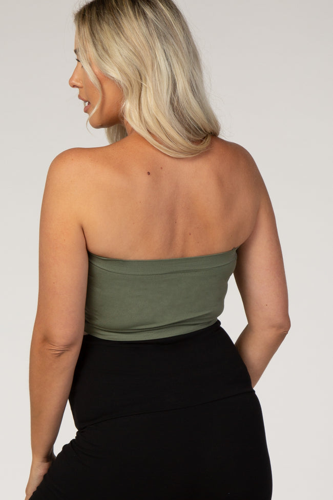 Olive Strapless Gathered Maternity Bandeau Bralette