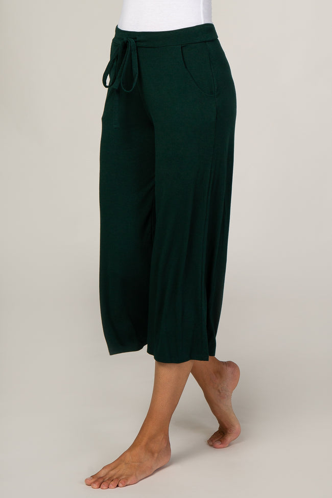 Forest Green Crop Lounge Pants