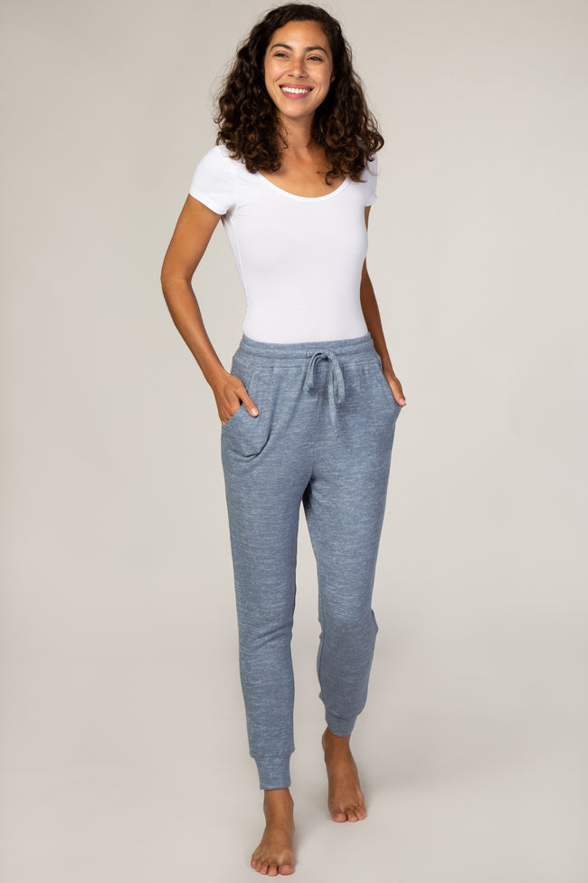 Heathered Blue Soft Jogger Pants