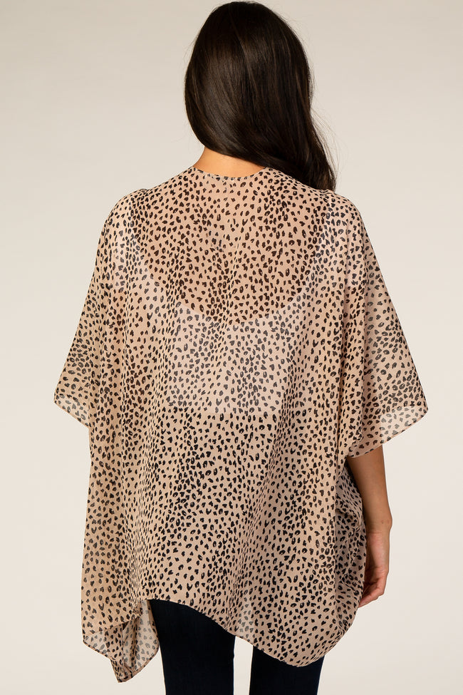 Cream Animal Print Chiffon Cover Up