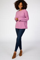 Lavender Soft Brushed Knit Top