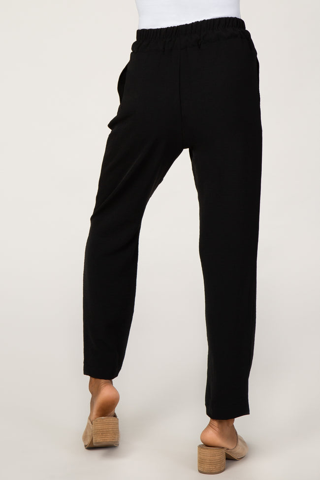 Black Cropped Dress Trouser