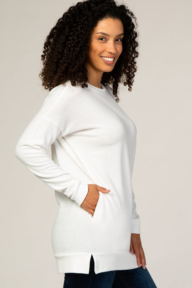 Ivory Fleece Tunic