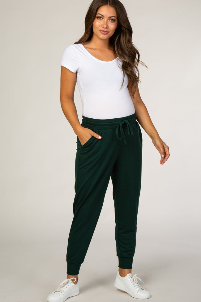 Forest Green Maternity Joggers