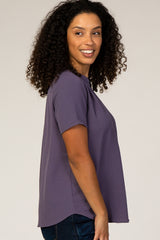 PinkBlush Lavender V-Neck Blouse