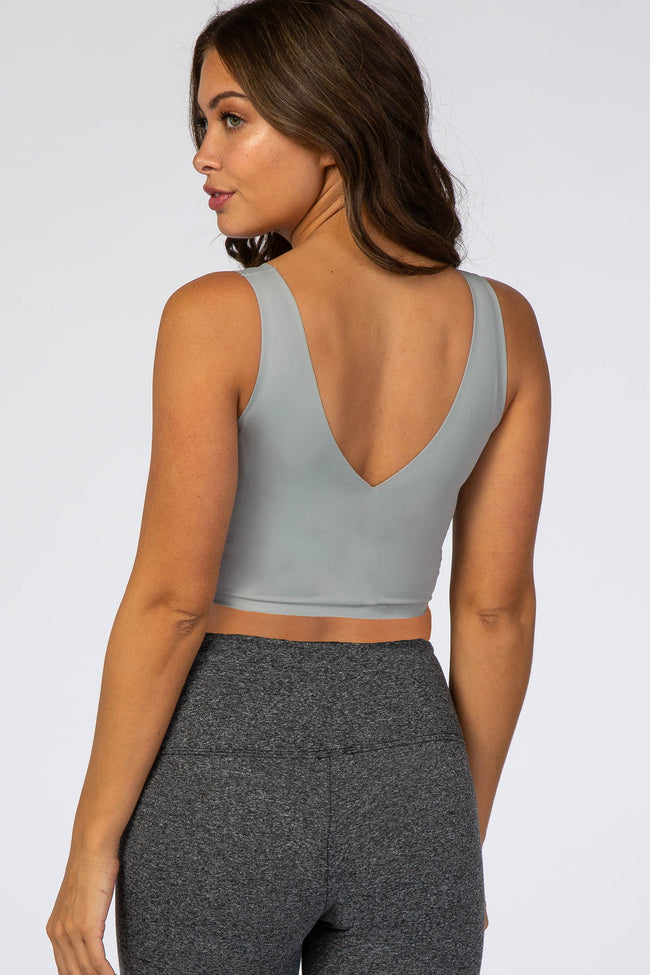 Grey Seamless Maternity Bralette