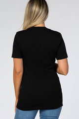 Black Short Sleeve MOMMIN' Graphic Maternity Top