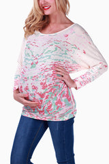 Ivory Printed Maternity Top