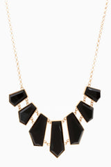 Black Gold Pendant Necklace/Earring Set