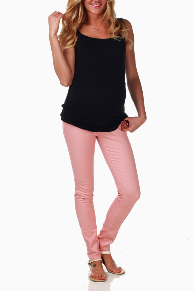Pale Pink Maternity Skinny Jeans