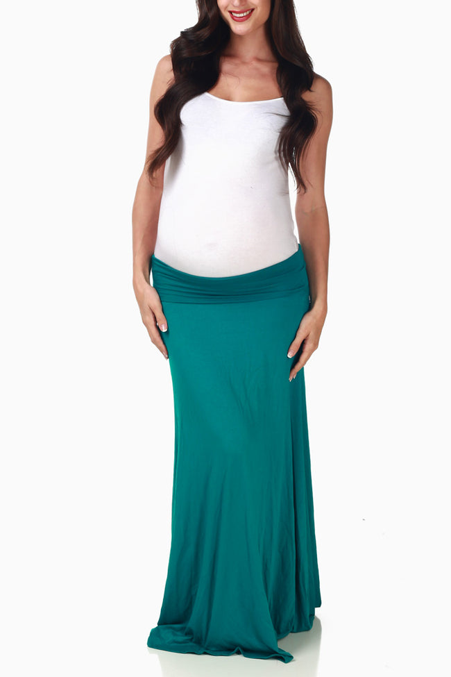Emerald Maxi Maternity Skirt
