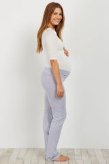 Grey Maternity Yoga Pants