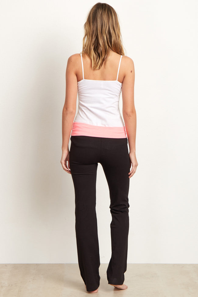 Pink Waistband Yoga Pants