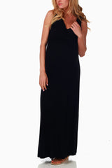 Black Maternity/Nursing Tank Maxi Dress