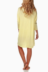 Yellow Maternity Sleep Shirt
