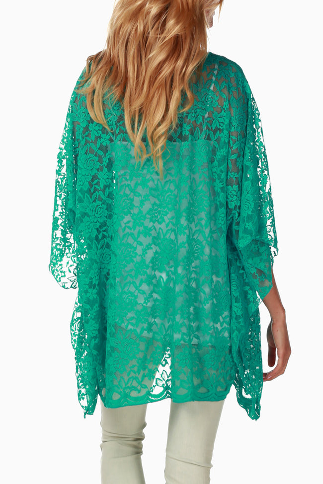 Jade Lace Maternity Blouse