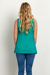 Green Maternity Tank Top