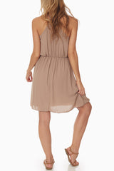 Mocha Zipper Front Dress