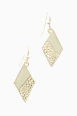 Gold Ivory Geometric Necklace/Earring Set