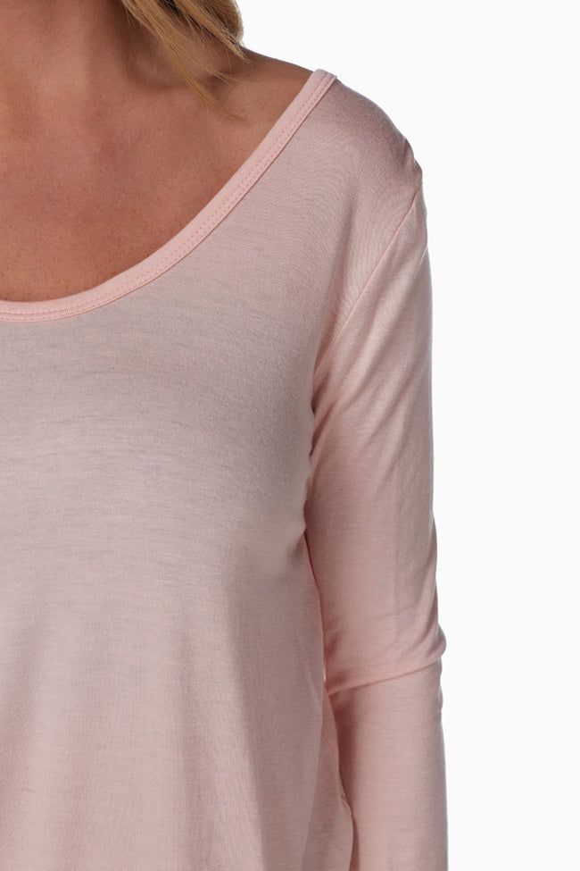 Light Pink Open Back Top