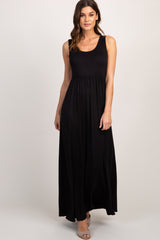 Black Basic Maxi Dress