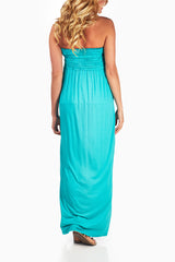 Jade Scrunchy Maternity Strapless Maxi Dress