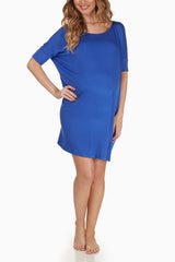 Royal Blue Maternity Sleep Shirt