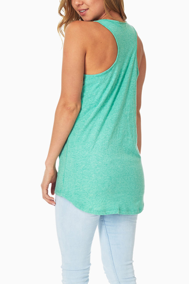 Green Button Accent Tank Top