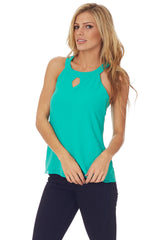 Green Open Back Tank Top