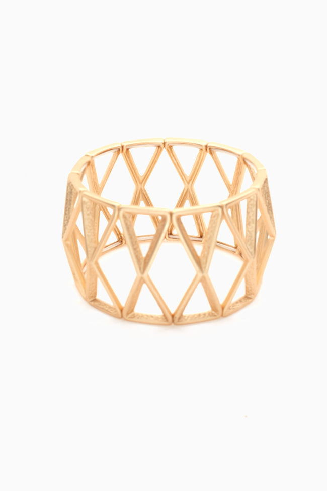 Gold Triangle Stretchy Bracelet