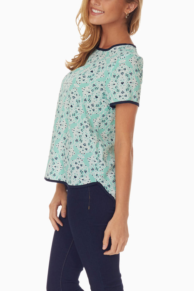 Mint Green Printed Blouse