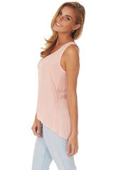 Light Pink Open Back Tank Top