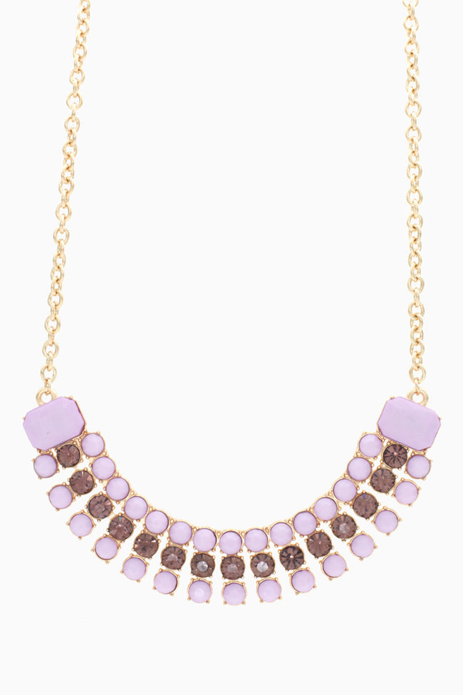 Purple Gold Jewel Necklace/Earring Set