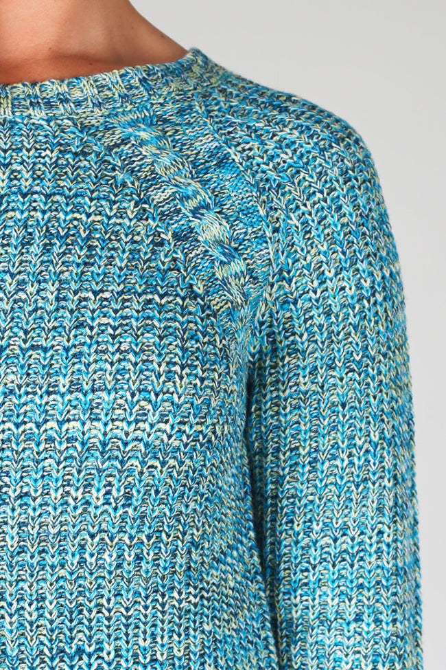 Turquoise Green Knit Sweater