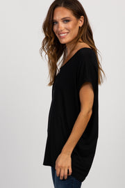 PinkBlush Black Zipper Front Top