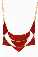 Red Gold Enamel Plated Necklace/Earring Set