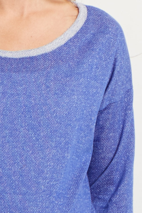 Blue Maternity Sweater Top