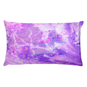 Purple Abstract Pillow - Tee Gurls