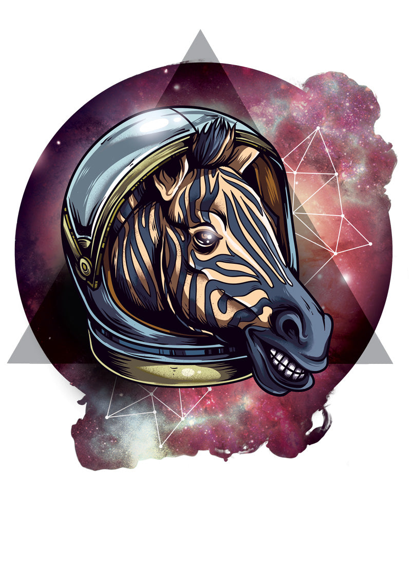 Space Zebra T-Shirt - Tee Gurls