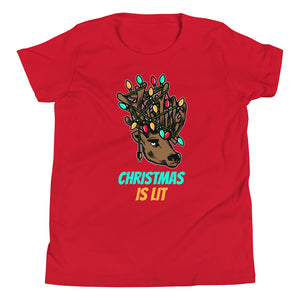 Christmas is Lit Youth T-Shirt