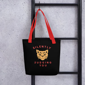Judgey Cat Tote - Tee Gurls