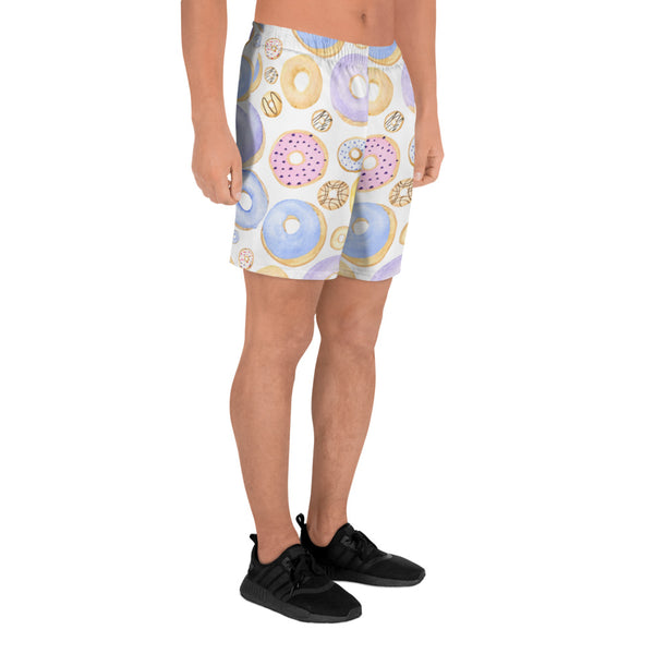 Blue Donuts All-Over Print Athletic Long Shorts - Tee Gurls