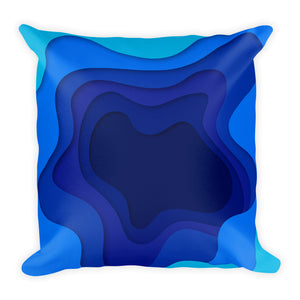 Blue Geode Pillow - Tee Gurls