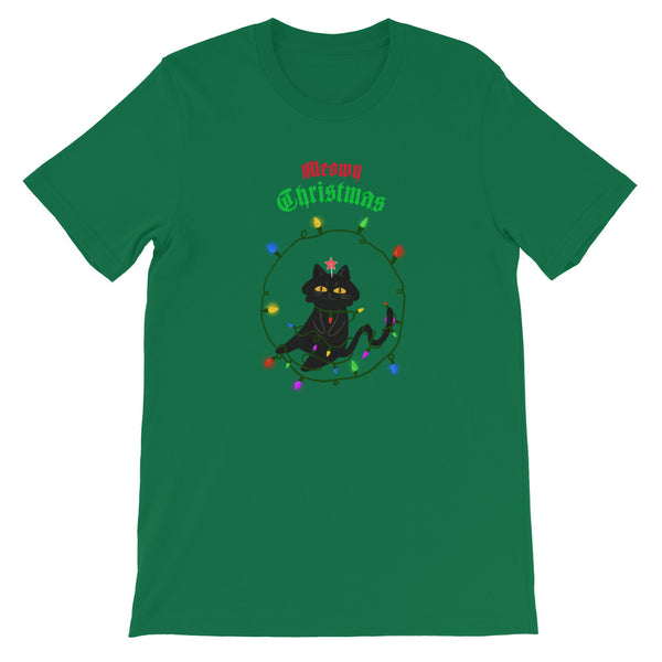 Meowy Christmas T-Shirt - Tee Gurls