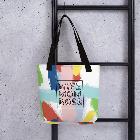 Wife Mom Boss Tote - Tee Gurls