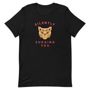 Judgey Cat T-Shirt - Tee Gurls