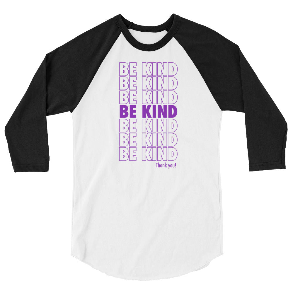 Be Kind Raglan - Tee Gurls